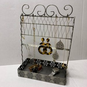 Silver Jewelry Stand Tray